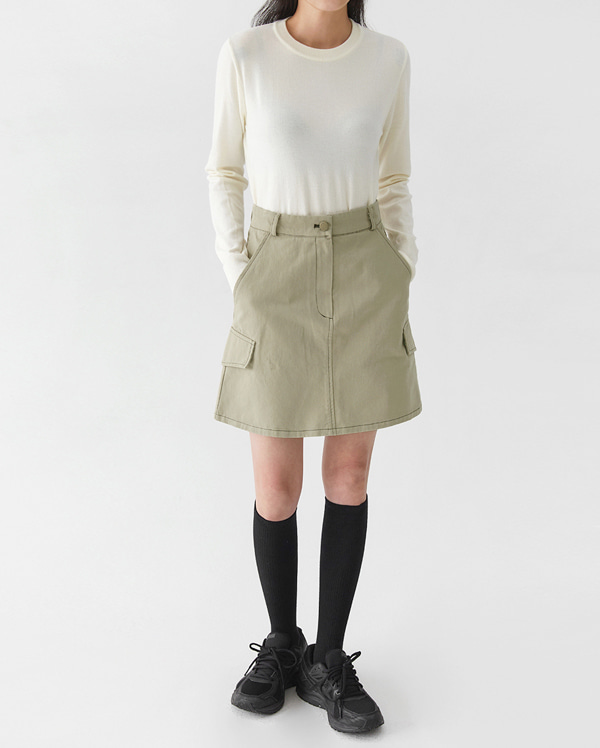 stitch cargo mini skirts (s, m)