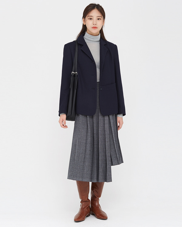 veil mono pocket wool jacket