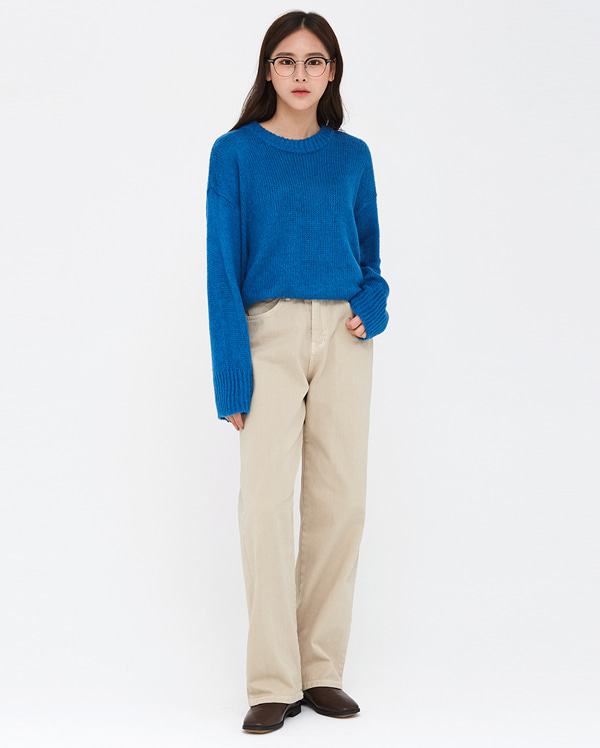 autumn straight cotton pants (s, m)