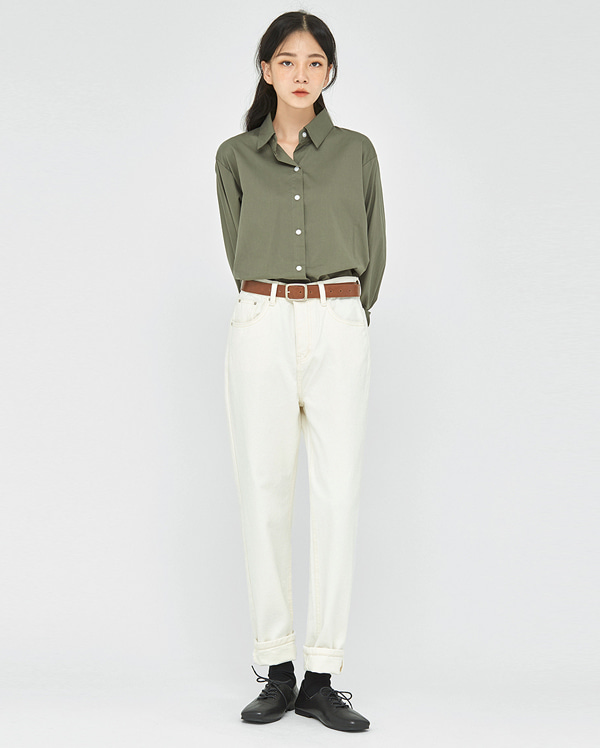 ally straight cotton pants (s, m, l)