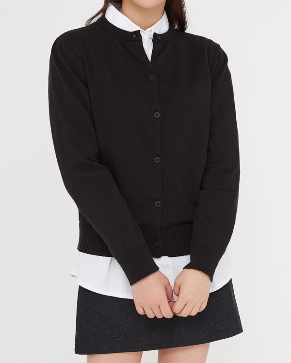 nell round knit cardigan