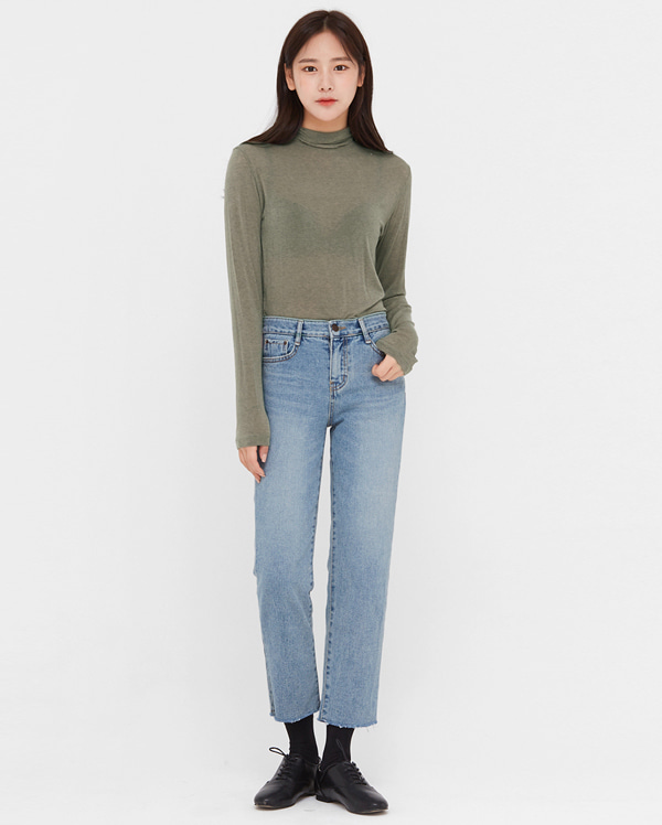 faded napping denim pants (s, m, l)