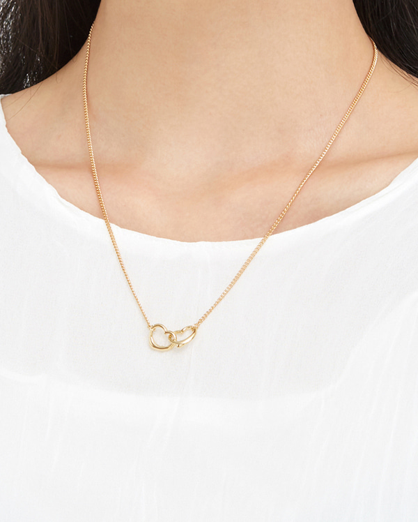 kit double heart necklace
