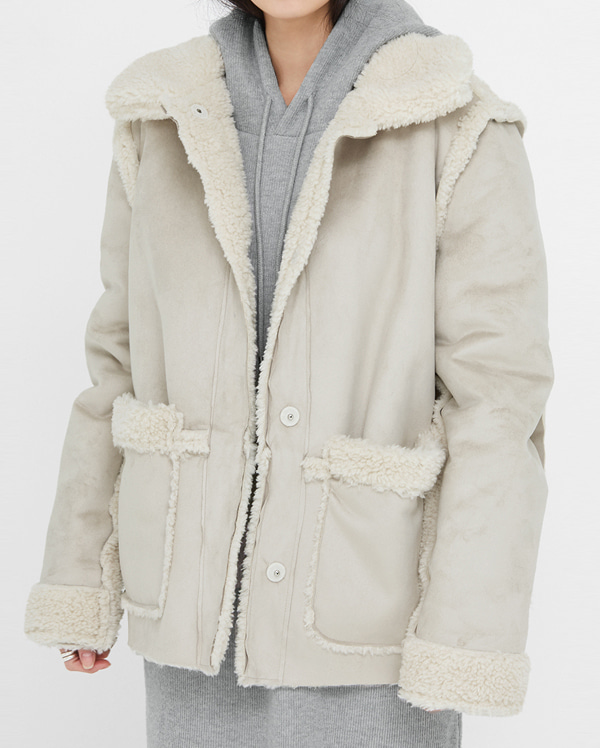 reversible fur shearling mustang