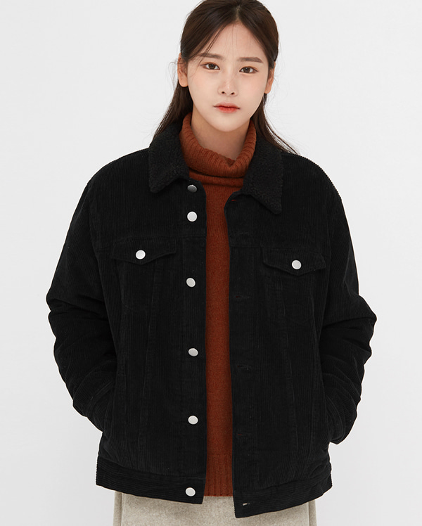 licel soft corduroy trucker jacket
