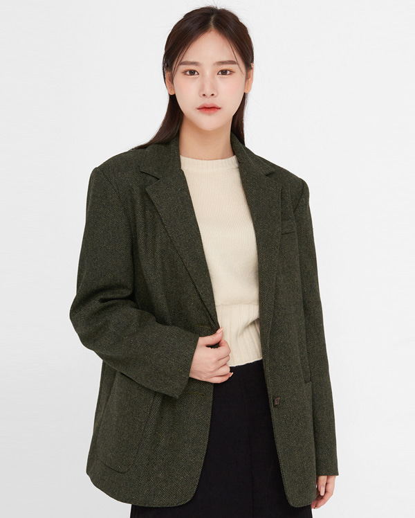 wish herringbone wool jacket
