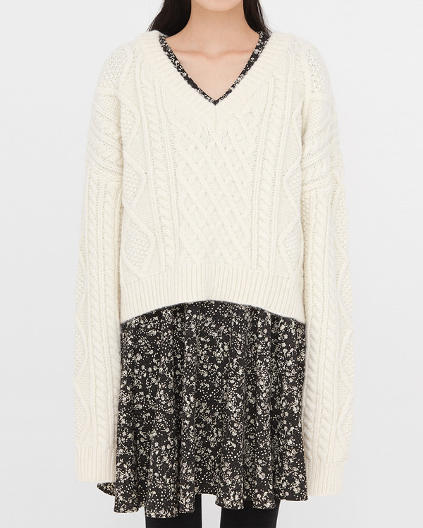 grove wool cable knit