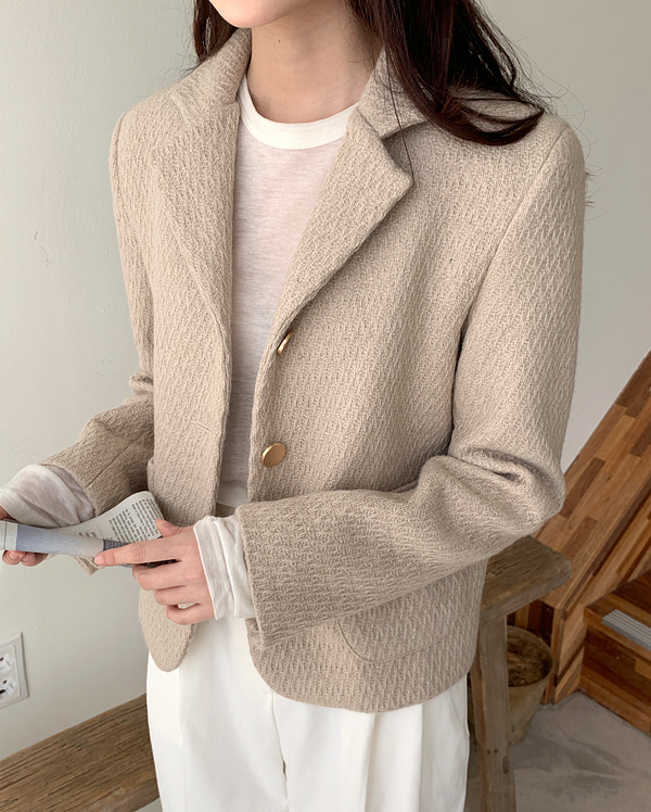 a tweed wool short jacket