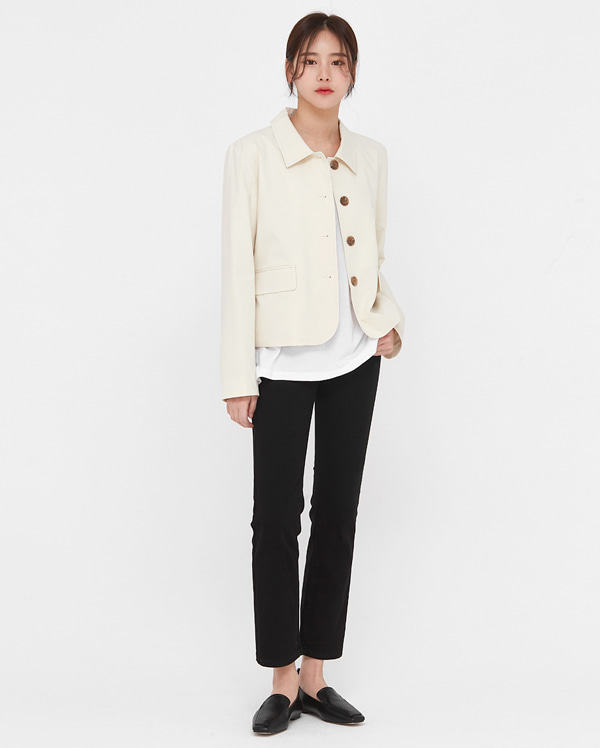 de casual short cotton jacket